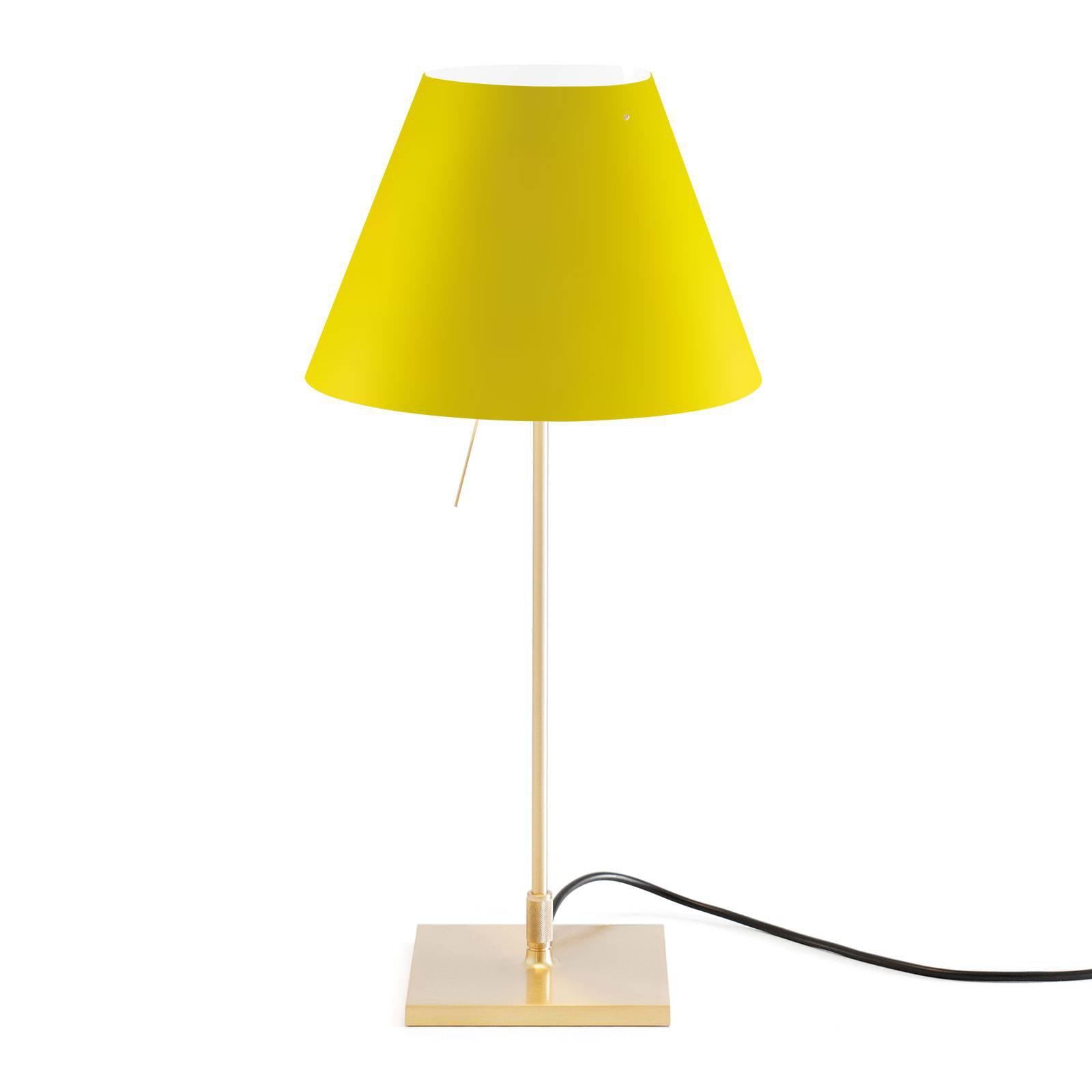 Luceplan Costanzina bordlampe messing gul