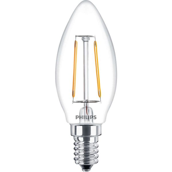 Philips Classic LED Filament LED-lampe 2 W, kronelysform