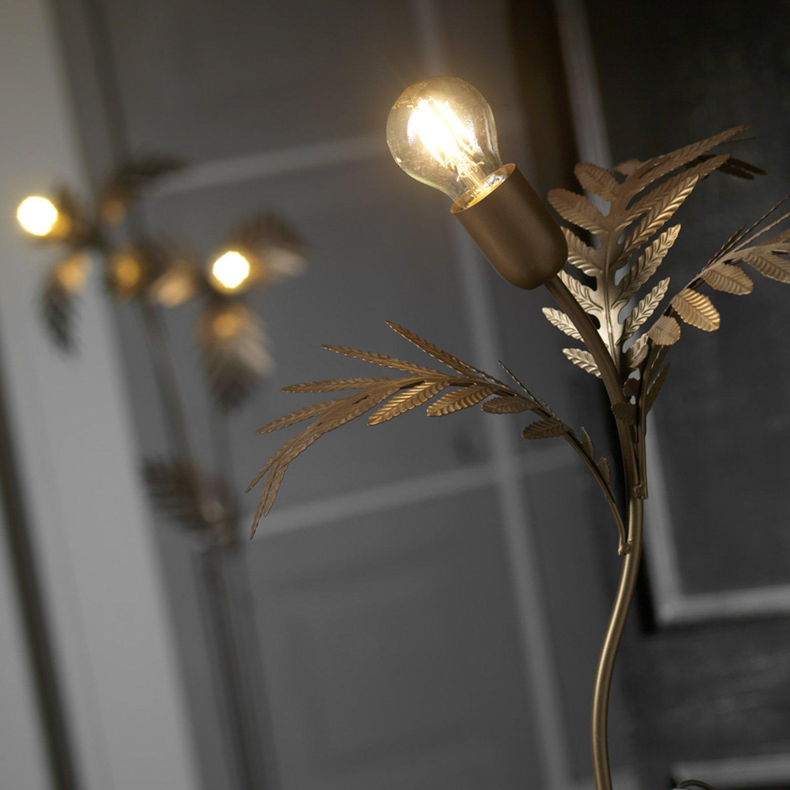 Bordlampe Dubai i bladstil, bronse