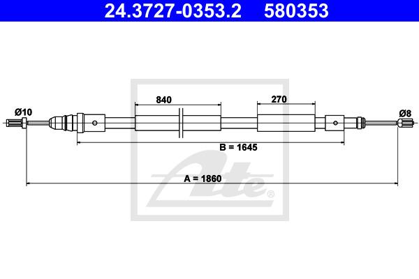 Käsijarruvaijeri ATE 24.3727-0353.2