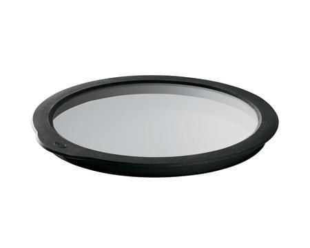 Glaslock klar/svart 28 cm