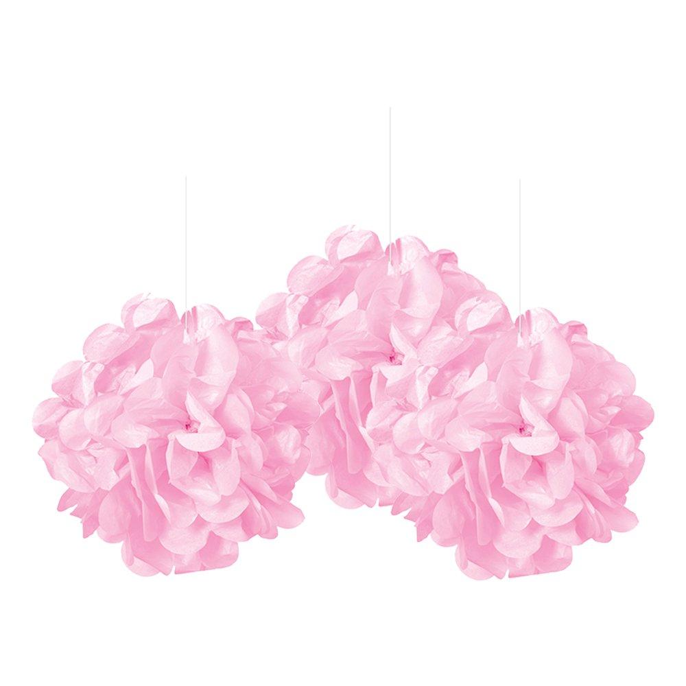 Pom Pom Mini Ljusrosa Hängande Dekoration - 3-pack