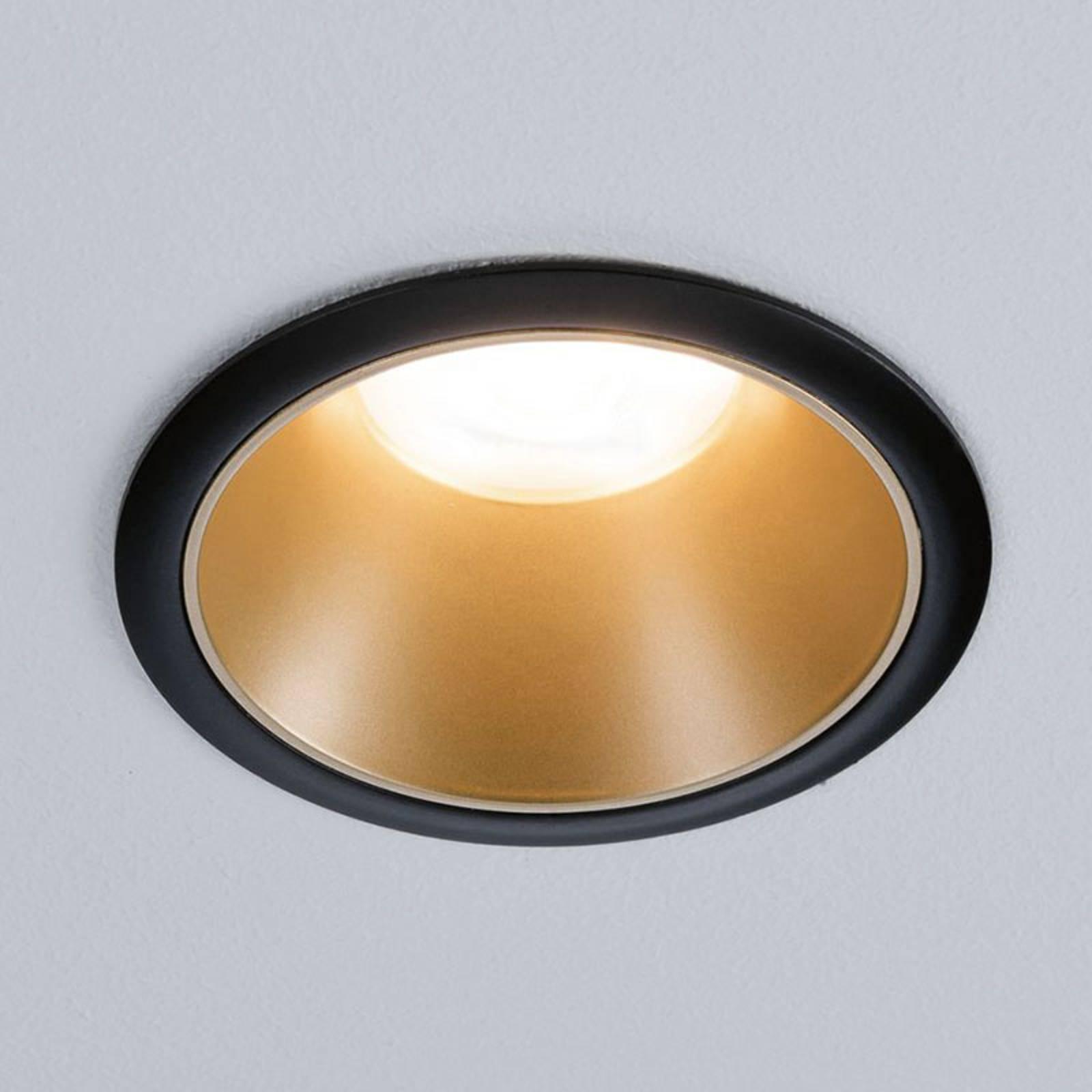 Paulmann Cole Spotlight GU10, musta/kulta