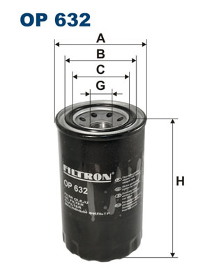 Öljynsuodatin FILTRON OP 632