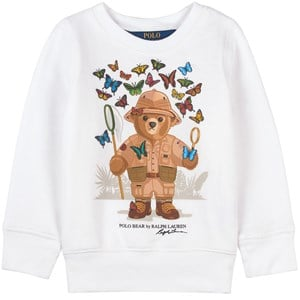 Ralph Lauren Butterfly Bear Print Infants Tröja Vit 2 år