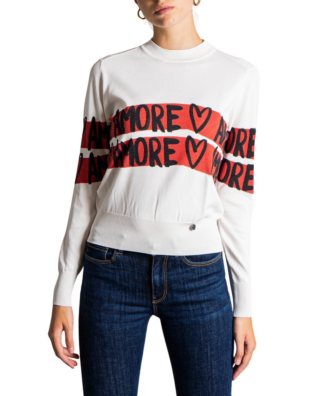 Desigual Women's Sweater Black 319393 - white XS