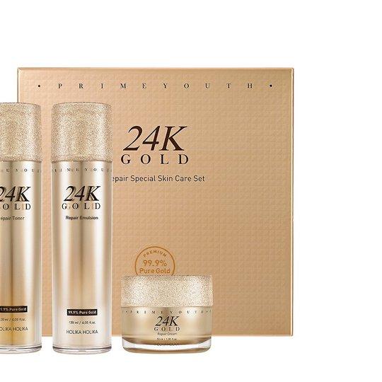 Prime Youth 24K Gold Repair Special Skin Care Set, 295 ml Holika Holika Kasvoille