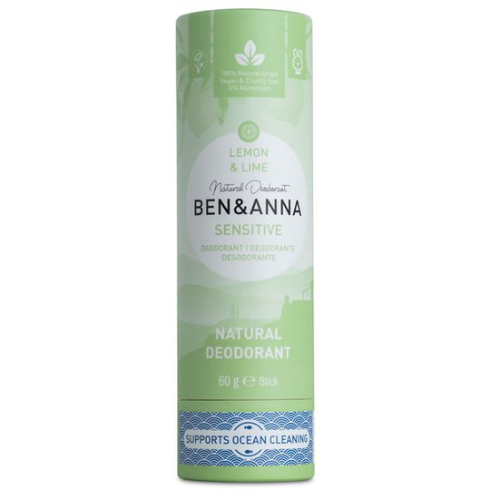Ben & Anna Natural Sensitive Deo Stick Lemon & Lime, 60 g