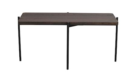 Shelton soffbord 95x50 brun ask/svart metall