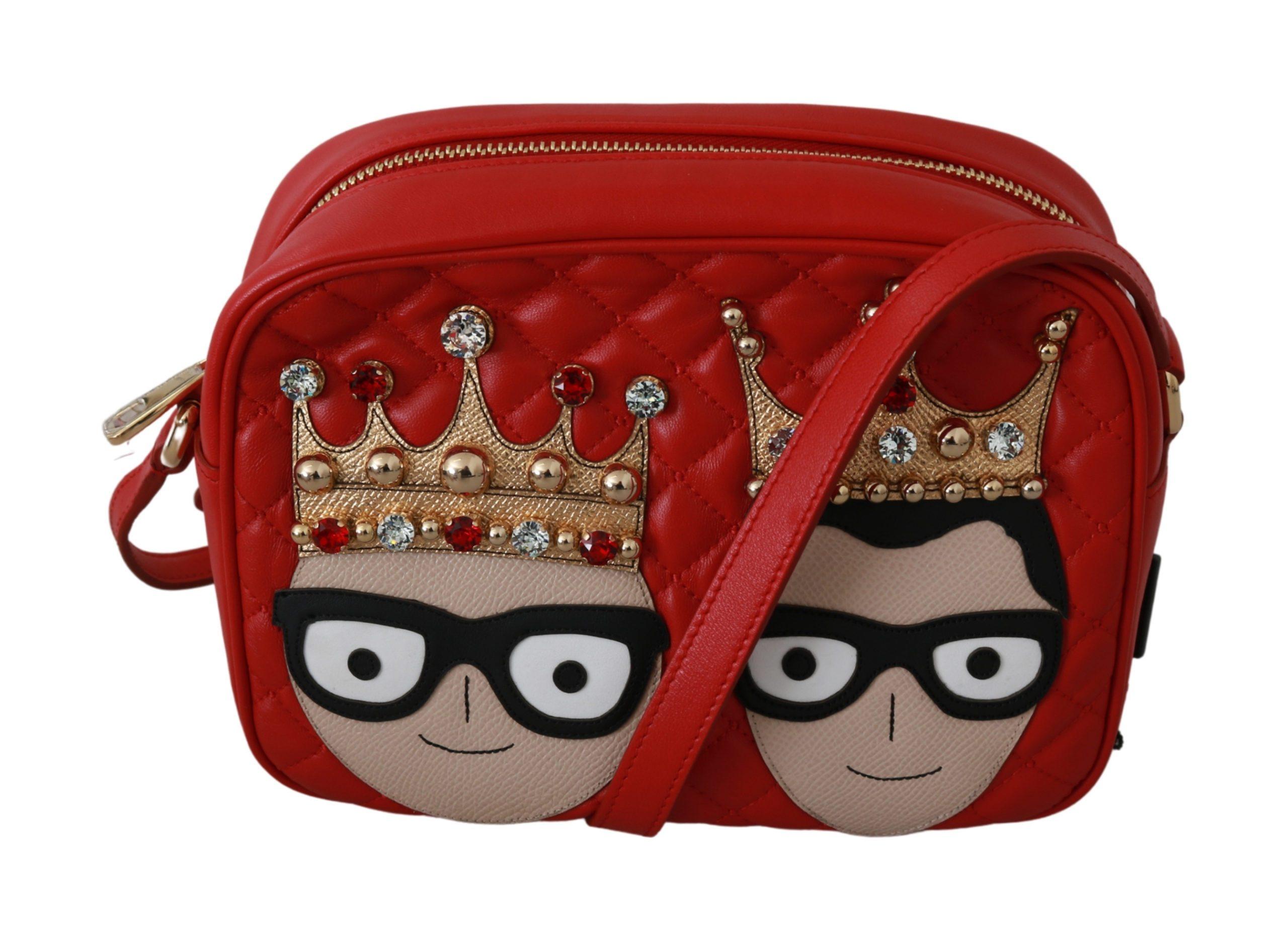 Dolce & Gabbana Women's Crown Patch Crossbody Bag Red VAS9202