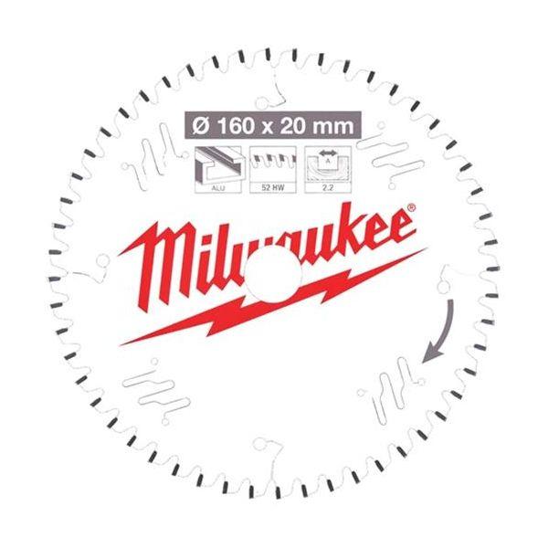 Milwaukee CSB P Alu Sahanterä 160x2,2x20 mm, 52T