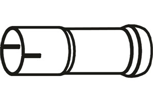 Pakoputki, Keskellä, MERCEDES-BENZ C-KLASS [W203], C-KLASS T-Model [S203], (2034900919)