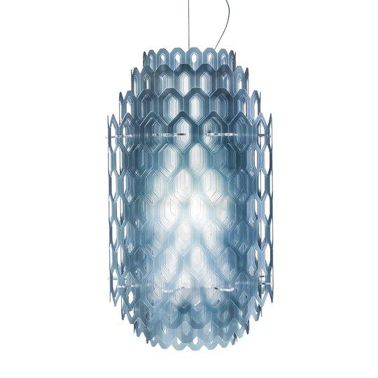 Design-LED-riippuvalaisin Chantal, sininen