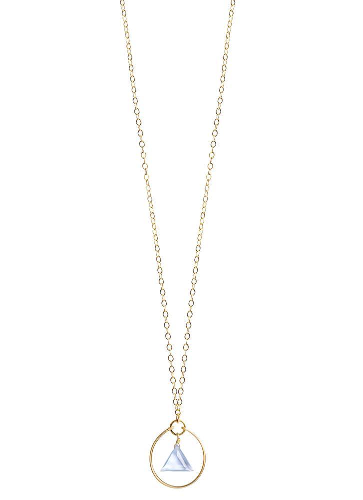 Wanderlust Life Stella Prism California Blue Quartz Gold Chain Necklace
