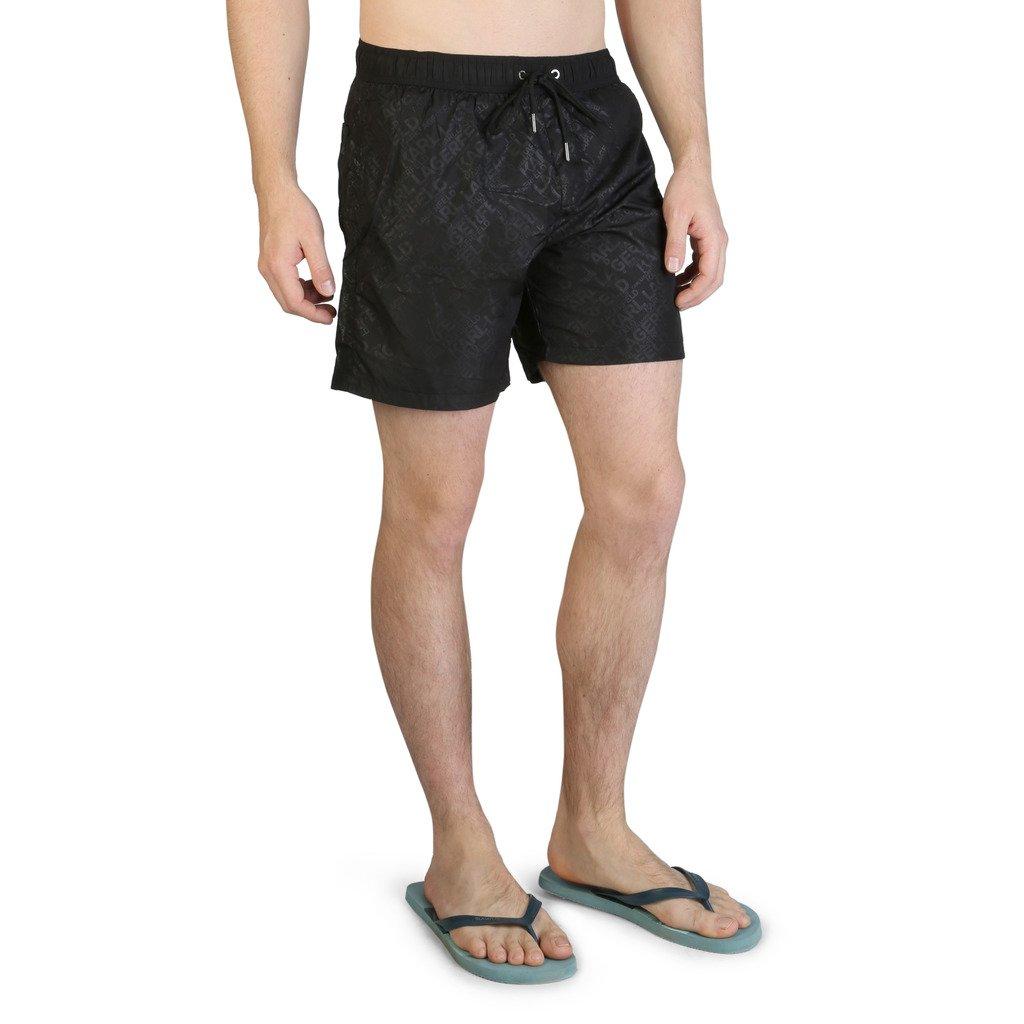 Karl Lagerfeld Men's Swimwear Black KL21MBM11 - black L