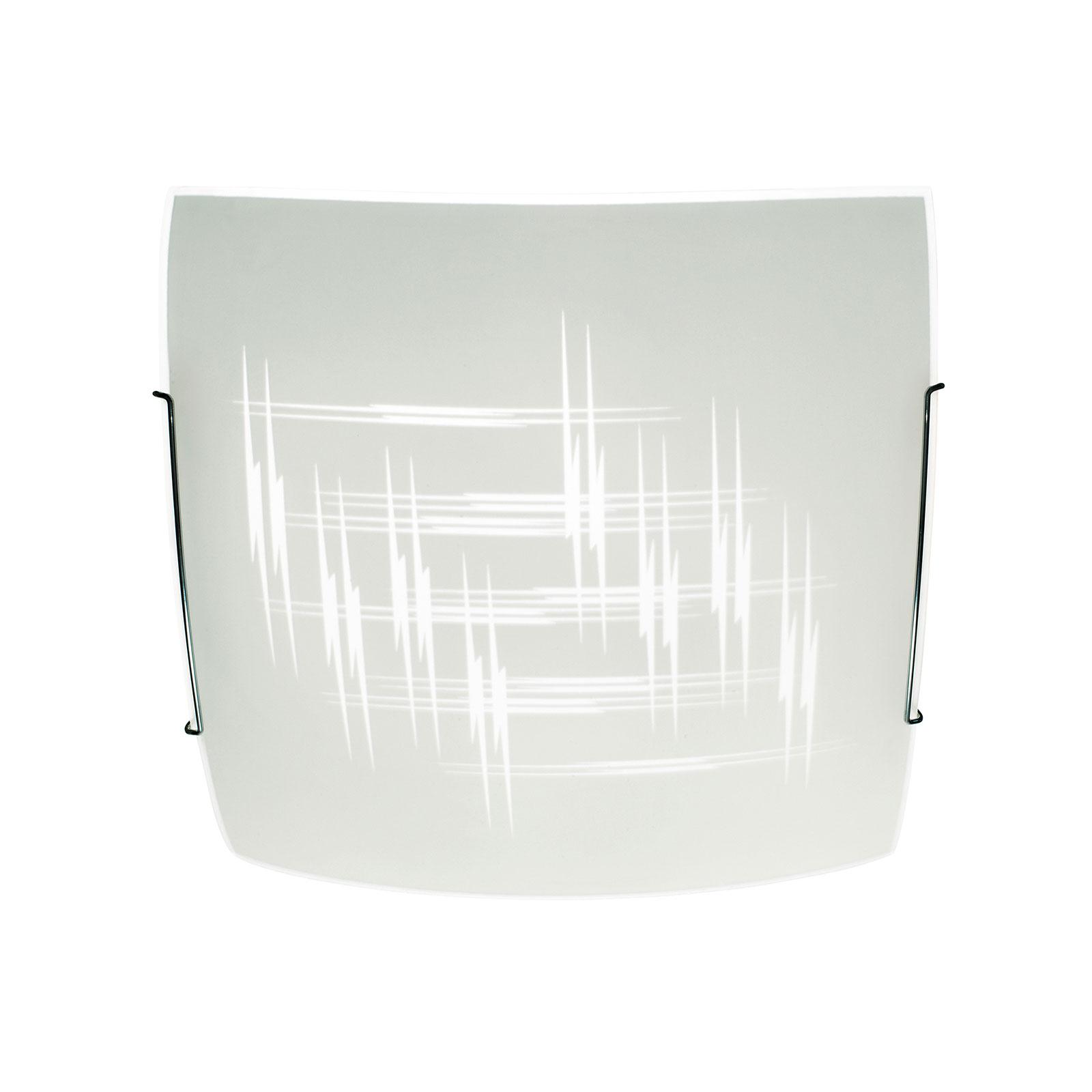 Kattovalaisin Scratch lasista, 30x30cm