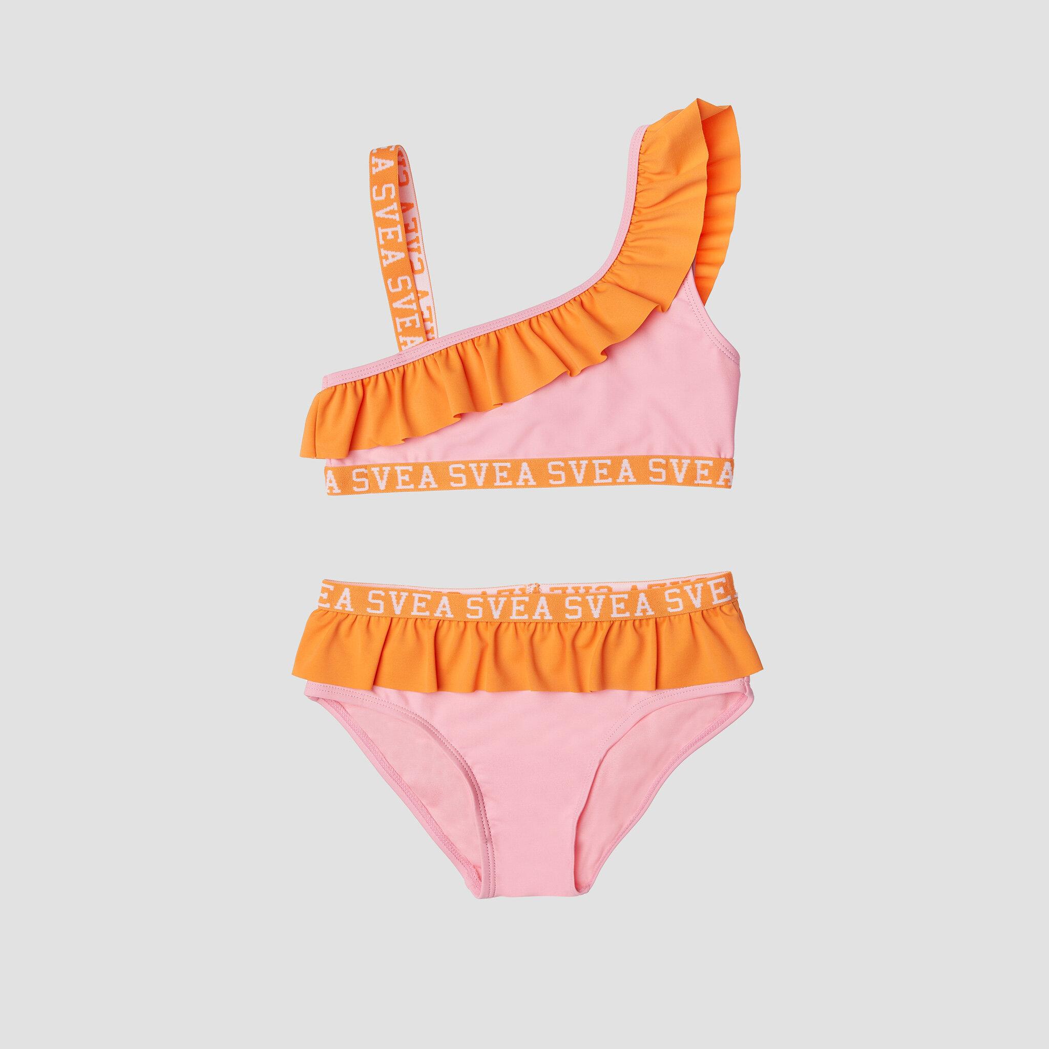 K. Frilly Off Shoulder Bikini