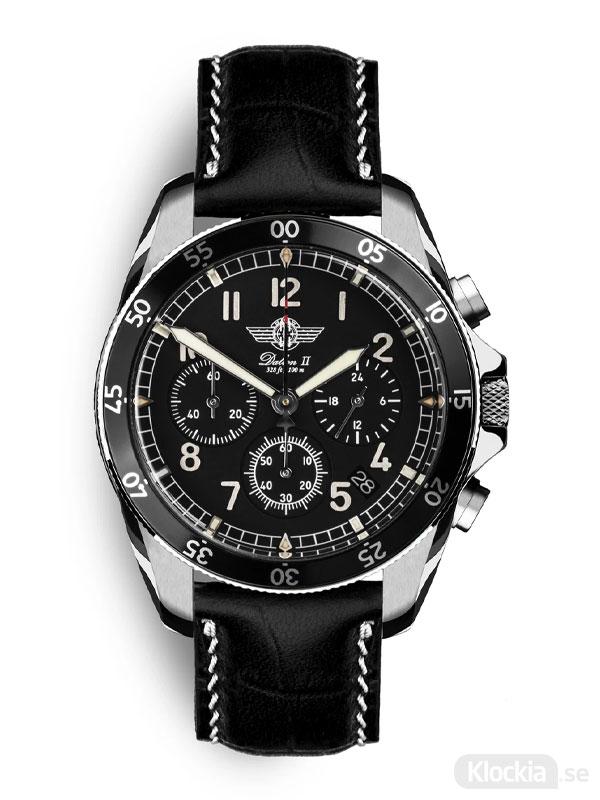 MALM Dalton 2 Black Chronograph 41 Black Classic MW-DAII39SWAF-LTD - Herrklocka