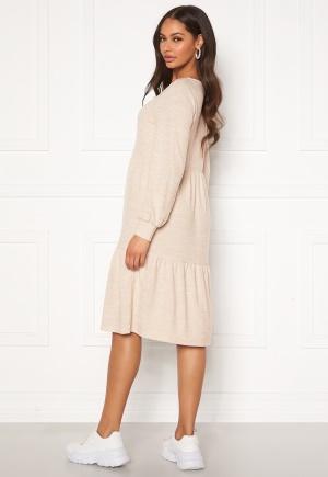 Happy Holly Liz flounce dress Light beige / Melange 44/46