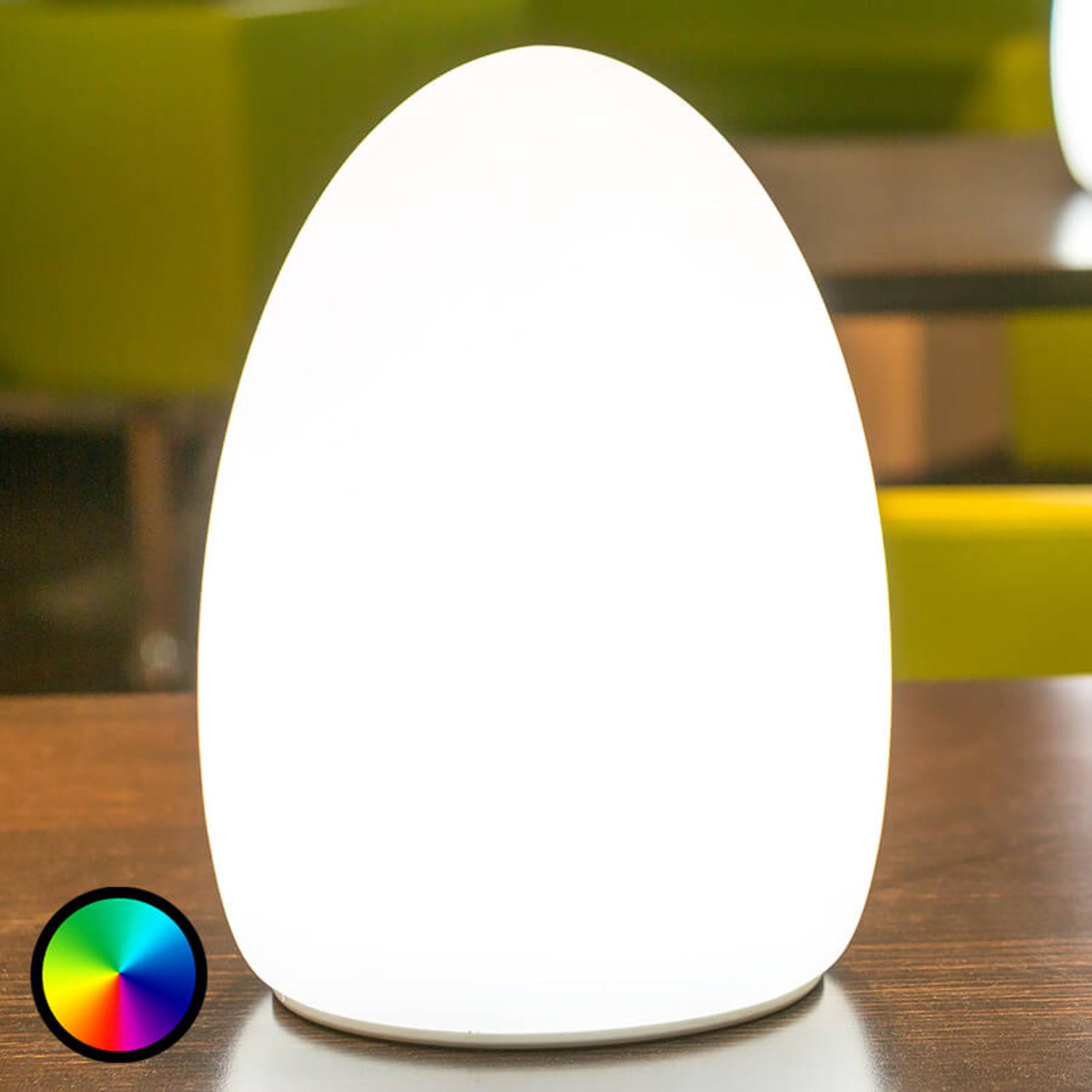 Egg - sovelluksella ohjattava koristevalo, akku