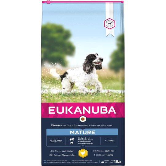 Eukanuba Dog Mature Medium Breed (15 kg)