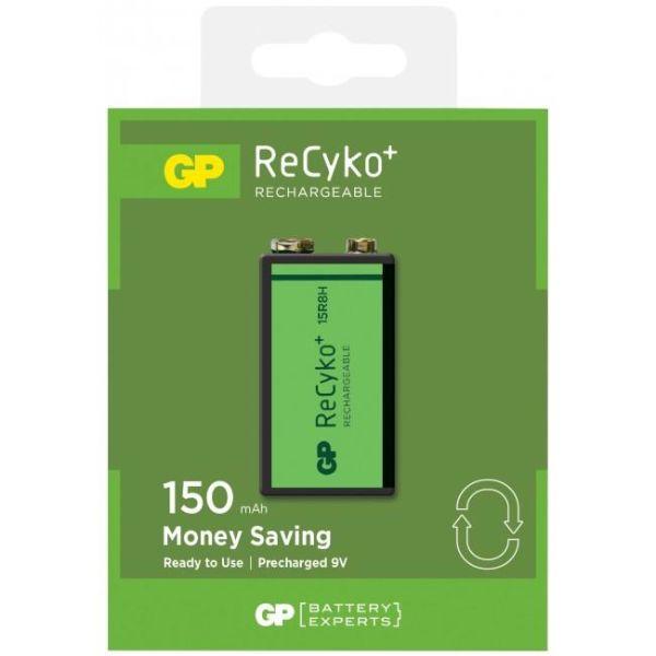 GP Batteries ReCyko 9V 150 Ladattavat akkuyksikkö 1 kpl:n pakkaus