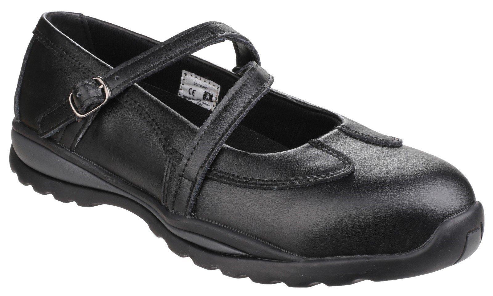 Amblers Women's Safety Slip on Shoe Black 22276 - Black 3