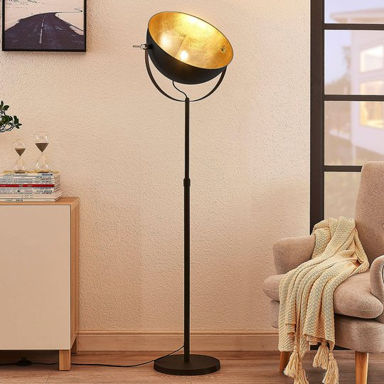 Lattiavalaisin Muriel 1-lamppuinen musta/kulta