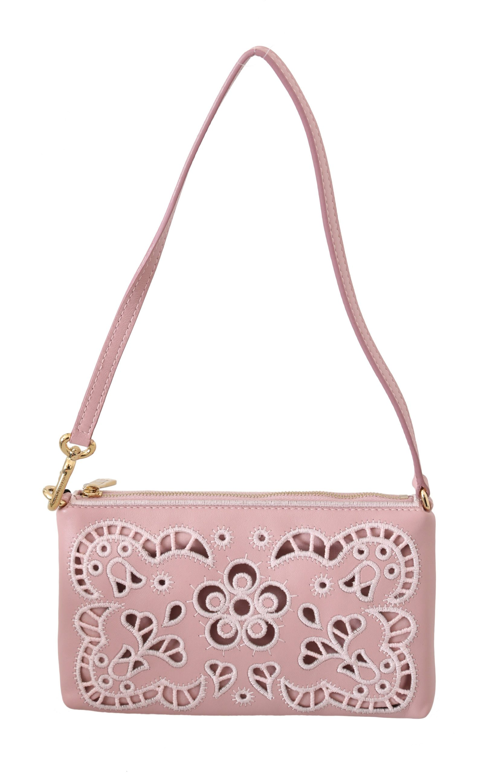 Dolce & Gabbana Women's Cutout Mini Leather Shoulder Bag Pink VAS8872