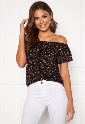 Happy Holly Fredrika singoalla blouse Black / Patterned 52/54