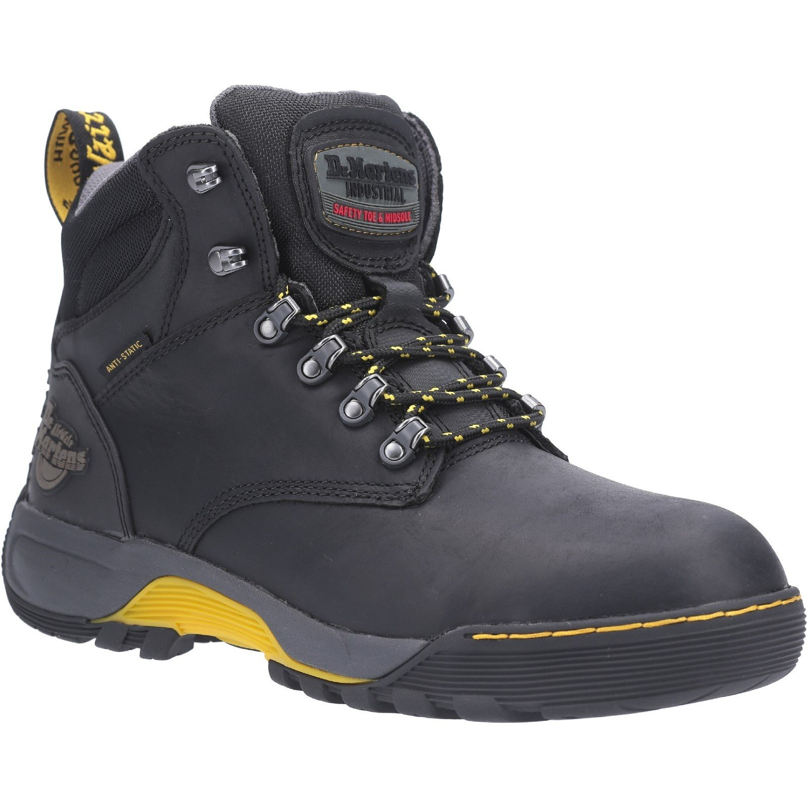 Dr Martens Unisex Ridge ST Lace Up Hiker Safety Boot Black 28324 - Black 7