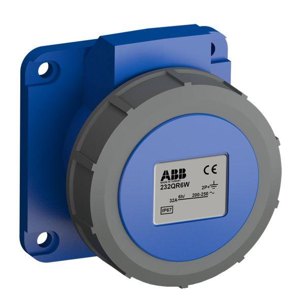 ABB 2CMA102357R1000 Paneelin ulostulo pikaliitettävä, tärinänkestävä Suora, 3-nastainen, 32 A