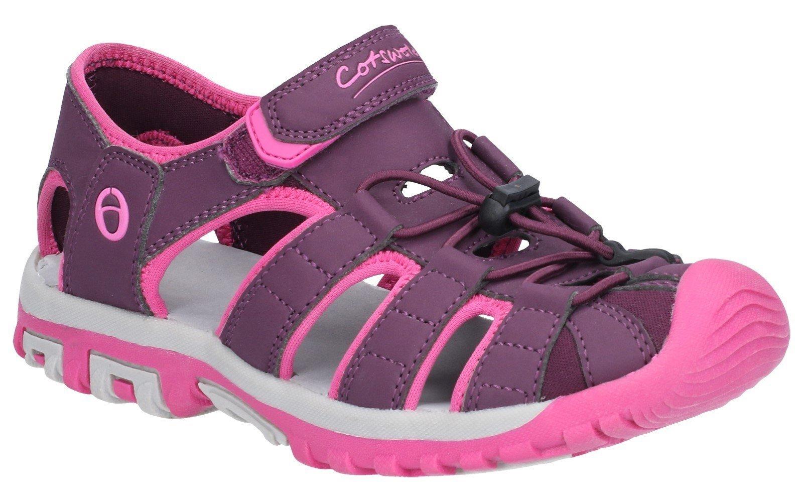 Cotswold Women's Tormarton Fisherman Walking Sandal Purple 28318 - Purple 4