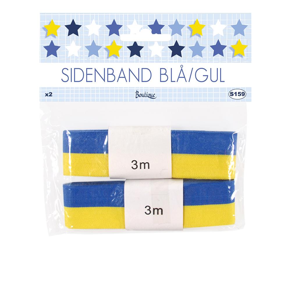 Sidenband Gul/Blå - 25 mm