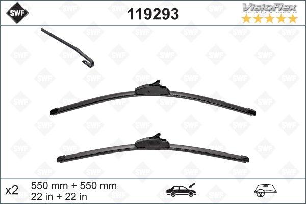 Flatblade set 550 + 550 mm
