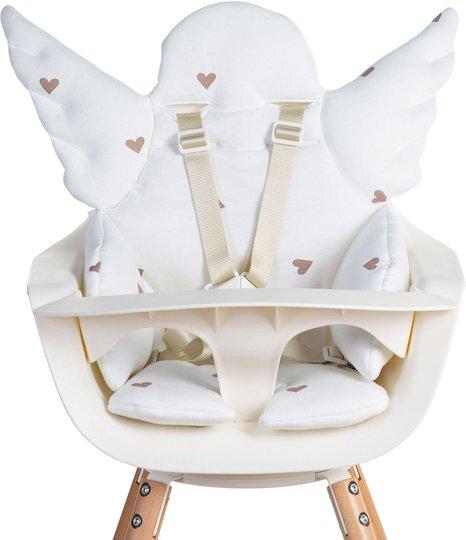 Childhome Angel Pute til Matstol Jersey Hearts, Ecru
