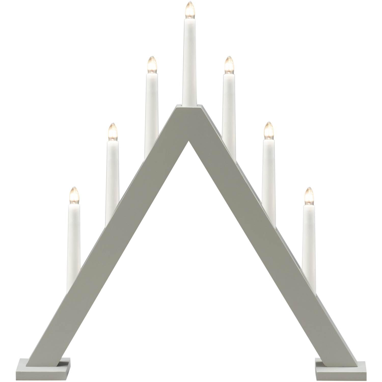 Konstsmide 3931-305 7 ljus trä grå