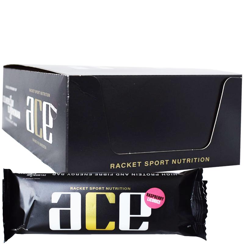 """Hel Låda Proteinbars """"Raspberry & Licorice"""" 20 x 60g - 63% rabatt"""