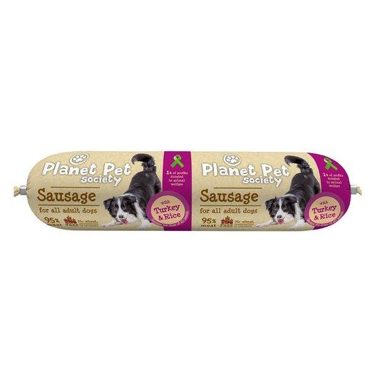 Planet Pet Society Sausage with Turkey & Rice 800 g