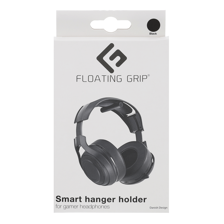 Floating Grip Headphone Hanger Black