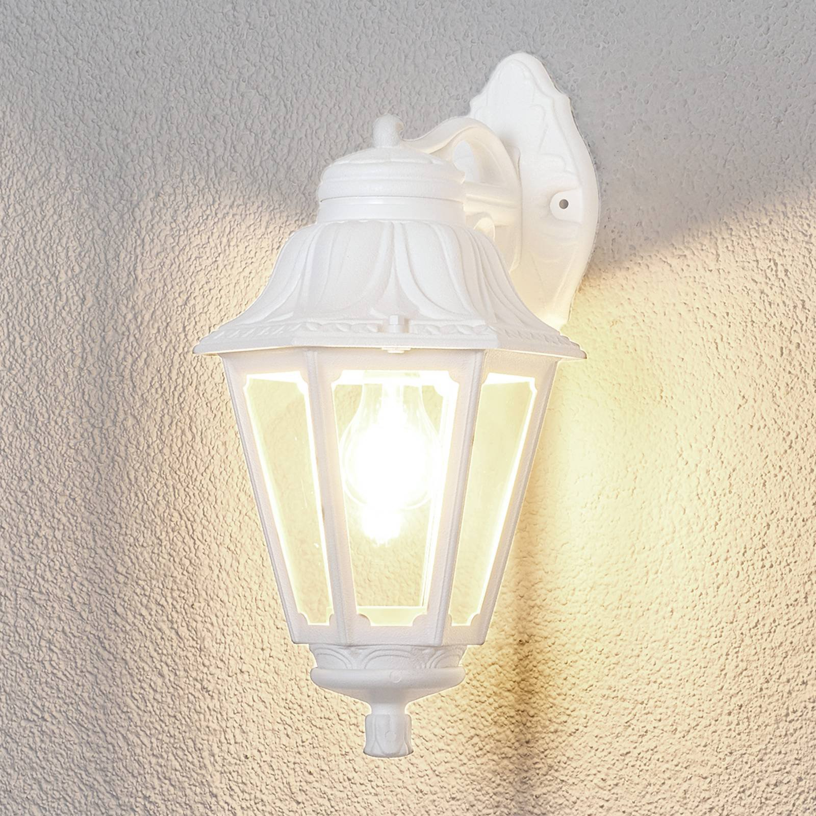 LED-vegglampe Bisso Anna E27 hvit nedover