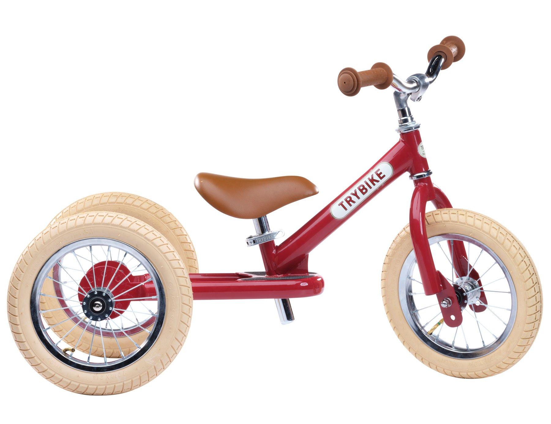 Trybike - 3 Wheel Steel, Vintage Red