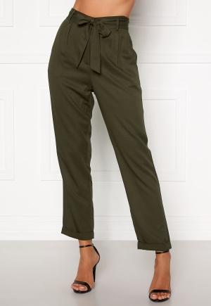 Happy Holly Sarah high waist pants Khaki green 32/34
