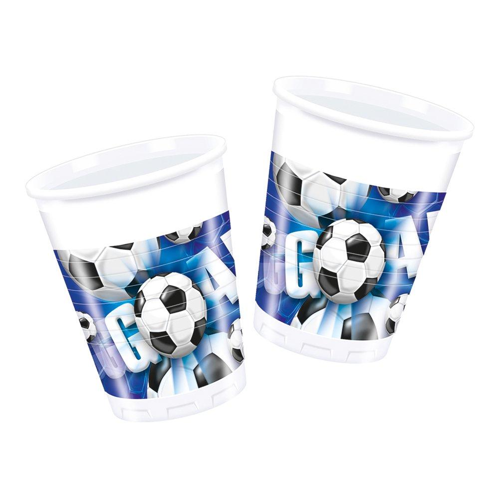 Plastmuggar Fotboll Blå - 10-pack