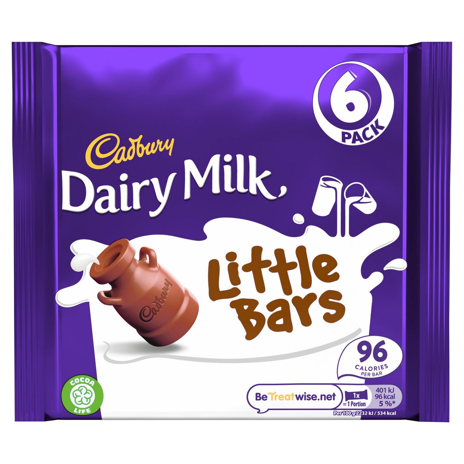 Cadbury Dairy Milk Little Bars 6-pack 108g
