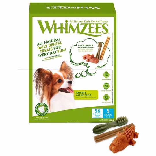 Whimzees Variety Value Box S 56-pack