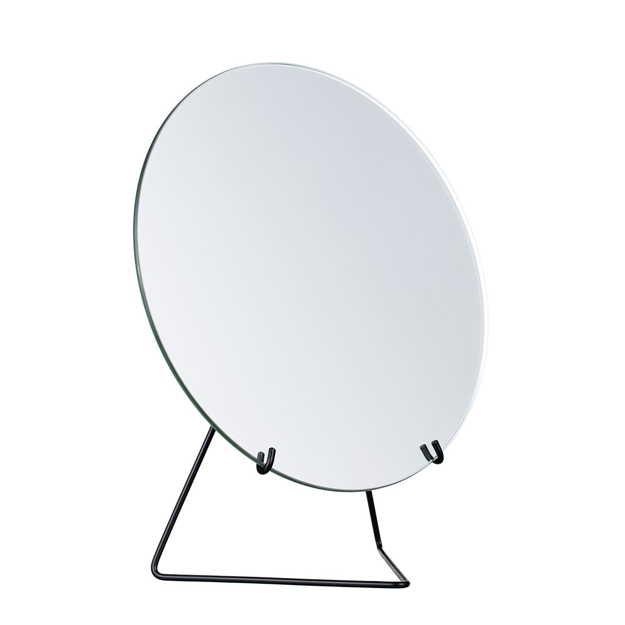 Moebe Spegel på fot 30 cm svart
