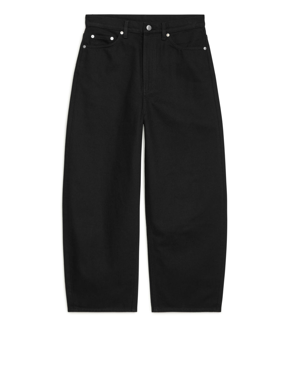 BARREL CROPPED Jeans - Black