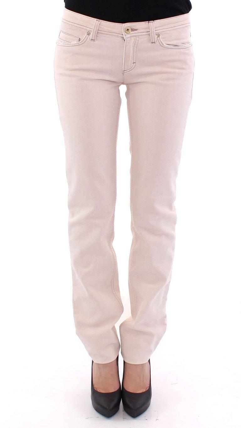 Dolce & Gabbana Women's Cotton Regular Fit Pants Beige NOC10535-2 - W27