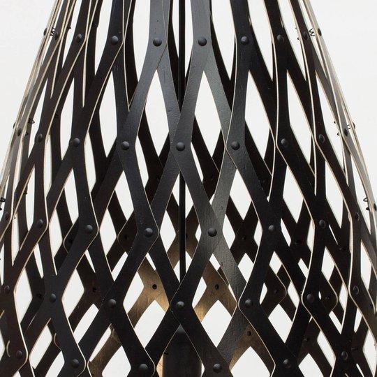 david trubridge Koura pendellampe 50 cm svart